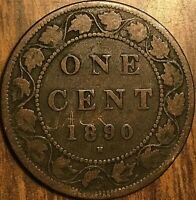 1890 H CANADA LARGE 1 CENT PENNY