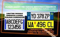 SERIE NUMERI TARGA COMPLETA MCTC + R TARGA EUROPEA RIMORCHI CARRELLI ROULOTTE