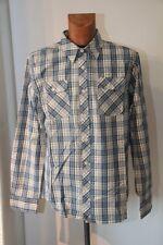 Original  ES Bobby WORREST chemise Skate  carreaux bleu gris  Taille S neuf