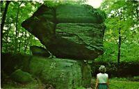 Vintage Postcard - Balancing Rock At Rock City Park Rt 16 New York NY #4906