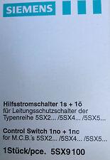 Siemens Hilfsstromschalter für Leistungsschutzschalter 5SX9 100; 1s + 1ö; NEU