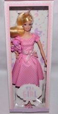 NIB 2013 IT'S ITS A GIRL BARBIE DOLL COLLECTOR SILKSTONE STYLE DRESS TEDDY BEAR