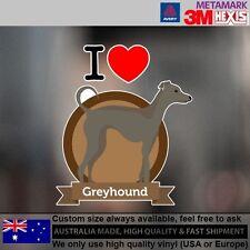 Greyhound Illustration Sticker Style Custom cute Gift  11.1 cm  x 13 cm