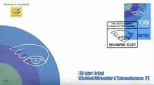 Albania Stamps 2015. The 150th anniversary of the ITU. FDC MNH