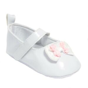 New Kids Baby Toddlers Infant White Bow Flowers Ballerina Flat Shoes P-TREAT 🥿