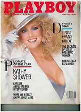 June 1986 issue of Playboy Linda Evans, Playmate of the Year Kathy Shower