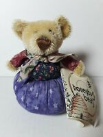 "Artist Teddy Bear 5 1/2"" Pin Cushion Pincushion Connie Stark Honeybug Bears"