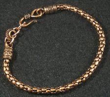 "Antiqued Solid Copper Knobby Bumpy Nugget Chain Bracelet 8 3/4"" Men Women Lg"