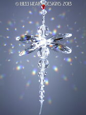 m/w Swarovski Crystal Clear Rainbow Dragonfly Suncatcher Lilli Heart Designs