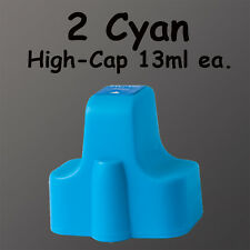 2 Cyan HP02 Ink 02 For HP C6180 C7180 C7280 C7283  13ml