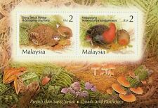 Quails & Partridges Malaysia 2001 Farms Animal Frog Birds Mushroom (ms) MNH