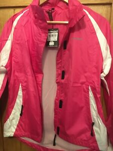 ladies muddyfox cycling jacket pink/white size 10