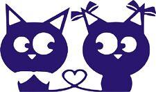 Pegatina - Sticker - Gatos Enamorados - VINILO - WALL DECAL- VINYL - No Disney