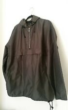 cecil gee mens jacket top size large hooded windbreaker half zip front grey