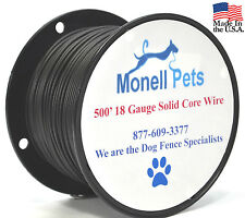 Petsafe Compatible 18 Gauge 35 Mil Solid Polyethylene Dog Fence Wire 500'