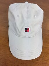 Woolrich Logo Hat Tan Baseball Cap Adjustable Beige Hat Red Plaid Logo