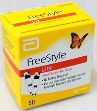 Freestyle Lite Blood Glucose Test Strips 50 Count