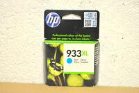 cartucho de Tinta Original HP933XL HP 933XL XL Cian CN054AE 03/2017 Auténtico