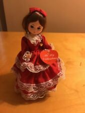 BRADLEY BIG EYE DOLL {Be My Valentine} 8.5 inch w/Stand RED with LACE -TAGS T1