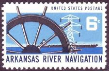 #1358 ARKANSAS RIVER. WHOLESALE LOT OF (100) MINT SINGLES F-VF NEVER HINGED!