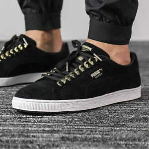 Puma Suede Classic X Chain Black Trainers Adults + Junior Sizes Available