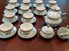 SCARCE MITTERTEICH BAVARIA GERMANY TEA COFFEE SET 29 PIECE VINTAGE WHITE GOLD