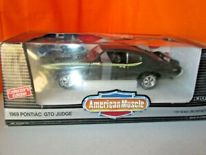Ertl 1969 Pontiac GTO Judge Dark Green 1:18 Diecast in Box