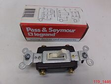 P&S Light Almond 4-Way Commercial Toggle Wall Light Switch 15A 120/277V 664-Lag