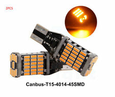 2*Amber Yellow Canbus T15 4014 45 SMD LED 12V  Car Bulbs Turn Signal Light