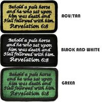 Tactical Combat Morale Embroidered Patch Badge Hook and Loop - Revelation 6:8