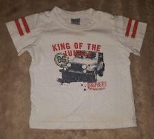 BABY BOYS Sz 00 white & orange TARGET t-shirt CUTE! SAFARI! KING OF THE JUNGLE!