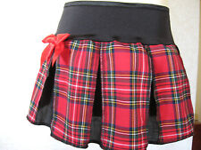 NEW Black Red Yellow White Tartan Check pleated Skirt All sizes Party Goth Gift