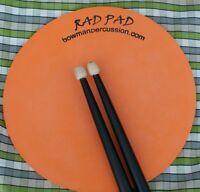 RAD PAD Orange Drum Pad pipe band bagpipe drumming