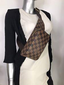 AUTHENTIC  Louis Vuitton Bag Geronimos Damier Ebene Fanny Pack Sling Bum Bag