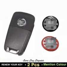 2x 14MM Replacement Sticker Badge Compatible with Vauxhall Car Key Fob Emblem