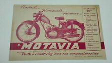 Prospectus Catalogue Brochure Moto Motovia 98 cc