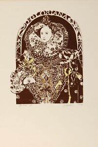 John Bunker, Gloriana, Screenprint, signed and numbered in pencil