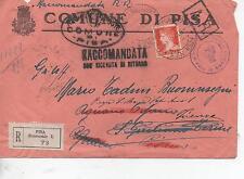 ITALIA 1941 RACCOMANDATA CON RICEVUTA DI RITORNO DA PISA TORNATA AL MITTENTE