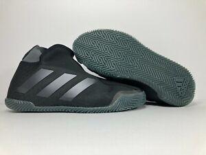 Women's Adidas Stycon Laceless Clay Court Tennis Shoes Sz 10 Core Black FV2782