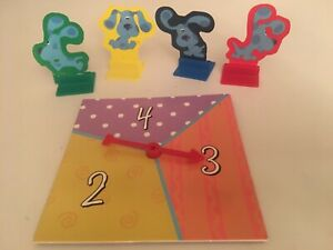 Blue's Clues Board Game 1998 Replacement Parts Spinner & 4 Movers Pawns