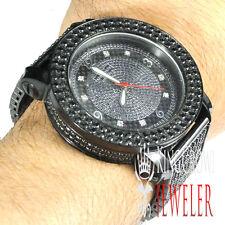 New Men's Khronos/JoJo/Joe Rodeo 2 Row Bezel Genuine Diamond Black Gold Watch