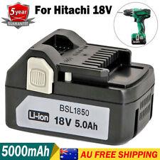 NEW For Hitachi 5.0Ah 18V Battery BSL1850 BSL1840 BSL1830 BSL1815X 330139 Li-ion