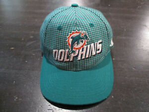 VINTAGE Logo Athletic Miami Dolphins Hat Cap Green White NFL Football Strap Back