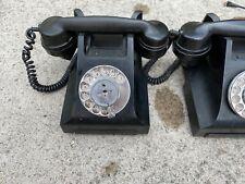 4 x STUNNING VINTAGE BLACK BAKELITE TELEPHONE GPO antique MINT retro DIAL PHONE
