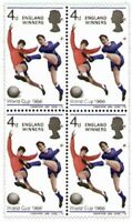 1966 Football World Cup Stamps - England Winners Block of 4