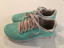 Nike Free Run 3.0 Aqua Blue Women's Running Shoes Size 7