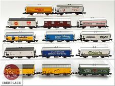 Z 1:220 escala Märklin mini-club vagones mercancias freight cars Coche Set 14x <