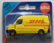 SIKU 1085 Miniature DHL POST VAN 7.5cm Long - Diecast Metal with Plastic Parts