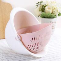 FP- Plastic Vegetable Fruit Rice Wash Drain Strainer Colander Basket Kitchen Too