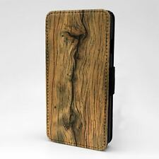 For Apple iPod Touch Flip Case Cover Wood Texture Image - T2485